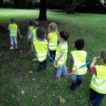 hunting for autumn treasure with barn owls preschool